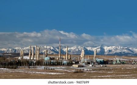 Gas plant in Cochrane, Alberta, Canada