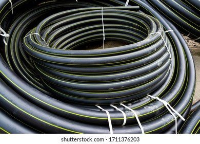 gas plastic pipe coiled in rolls