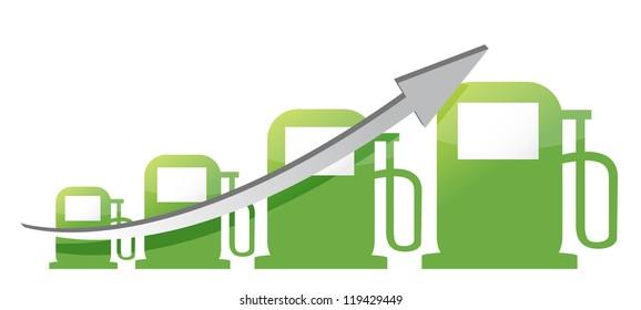 gas pump graph illustration design over a white background design over white