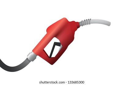 gas pump handle illustration design over a white background