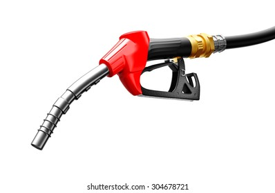 Gas pump isolated on a white background