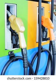 gas pump nozzles - tank