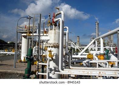 Gas refinery in Bontang, Kalimantan, Indonesia