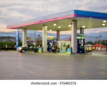 gas station blur for background