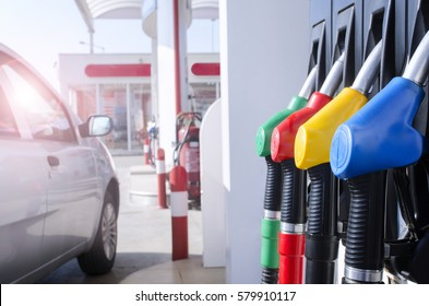 Gas station. Fuel pump.