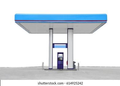 gas station. Oil fuel gasoline service station. isolated on white background