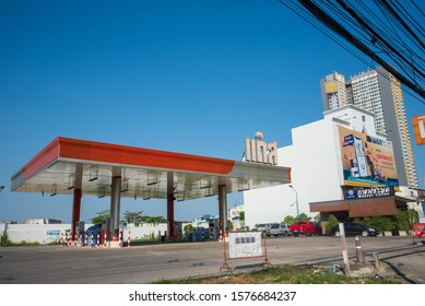 gas station is popular in Thailand, Huai Khwang, 03 December 2019
