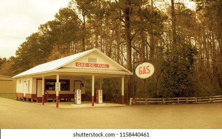 Gas Station Retro the Sign Was Changed to Say GAS Which Is More Generic