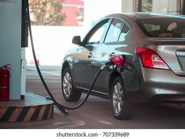 Gas station,car.