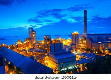 Gas storage spheres tank in petrochemical plant