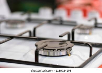 Gas stove close up