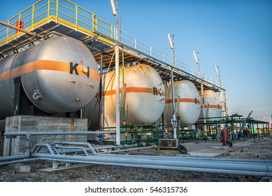 Gas tank containers in Natural Gas factory