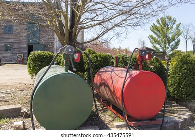 Gas tank at farm