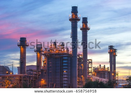 Gas turbine electrical power plant with twilight
