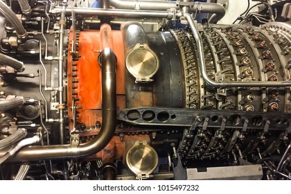 Gas turbine engine or airplane engine use for power plant cogeneration