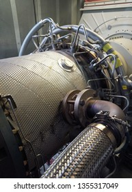 Gas turbine engine generator.Used to generate electricity.
