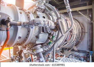 Gas turbine engine is the prime mover of gas compressor centrifugal type this engine same as plane engine this being used at oil and gas central processing platform.