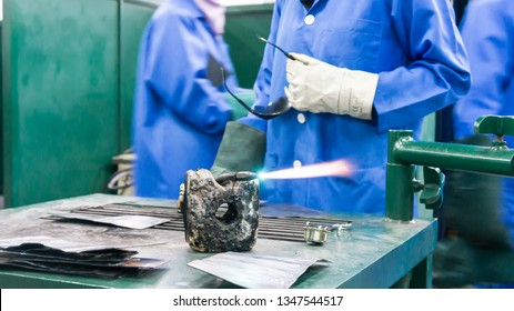 Gas welding flame or spark