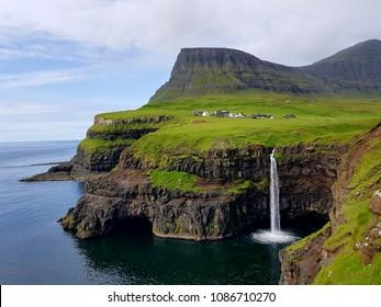 Gasadalur in Faroe islands