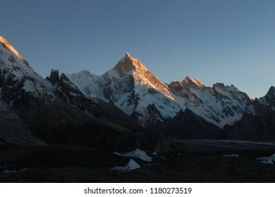 Gasherbrum massif and Baltoro glacier, K2 Base Camp, Pakistan