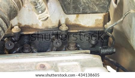 Oil Gasket Leak >> Gasket Engine Oil Leak Stock Photo Edit Now 434138605