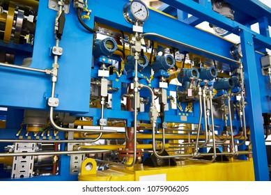 Gas-oil heat exchanger aggregate unit