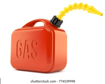 Gasoline canister isolated on white background. 3d illustration
