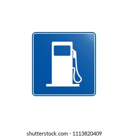 Gasoline  icon. Element of road signs icon for mobile concept and web apps. Colored Gasoline  icon can be used for web and mobile. Premium icon on white background
