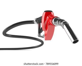 Gasoline nozzle isolated on white background. 3d illustration
