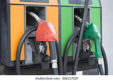Gasoline station.