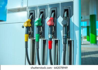gasoline station gas fuel pump