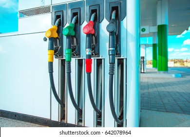 gasoline station gas fuel pump