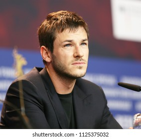Gaspard Ulliel is seen at the 'Eva' press conference during the 68th Berlinale International Film Festival Berlin at Grand Hyatt Hotel on February 17, 2018 in Berlin, Germany.
