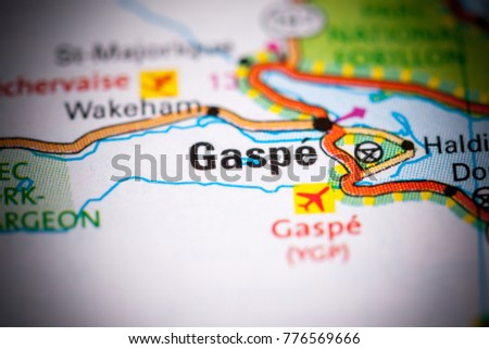 Gaspe Canada Map.Gaspe Canada On Map Stock Photo Edit Now 776569666 Shutterstock