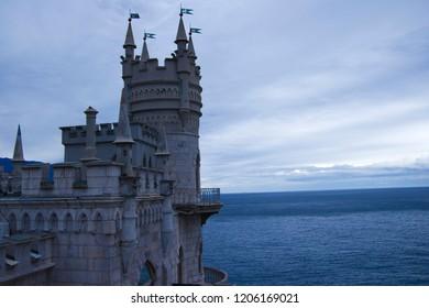 Gaspra, Crimea, RUSSIAN - September, 2018: castle Swallow's Nest