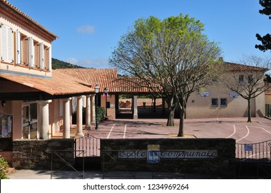 Gassin, France - april 16 2016 : school in the picturesque village in spring
