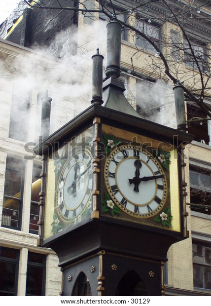 The Gastown Steam Clock in Vancouver BC Canada.
