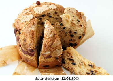 Gastronomic traditions of Christmas. Panettone, a typical Milanese cake