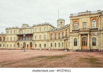 Gatchina, Leningrad oblast (Saint Petersburg suburbs), Russia.The Great Palace.