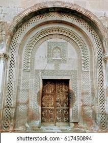 Gate of a 17th century church in Yerevan