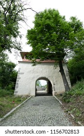 Gate of the ancient dacian citadel of Deva, Romania - Cetatea Devei
