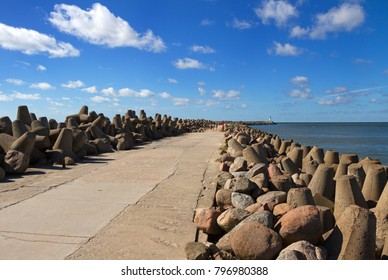 Gate of the Baltic sea in Venspils.