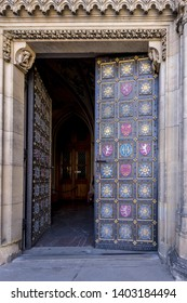 Gate to Basilica of Saint Peter and Paul at Vysehrad, Prague, Czech republic