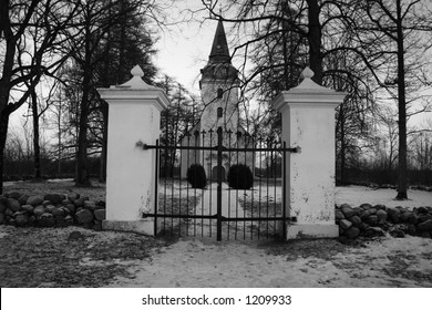 The gate to church