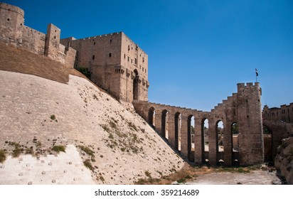 Gate of the citadel in Alappo, Syria. Photo taken on: October 10, 2010