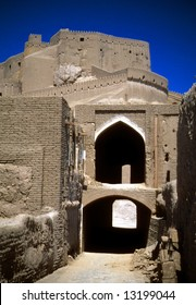 Gate of the citadel, towers, medieval city and fortress,		Bam	Iran, Middle East