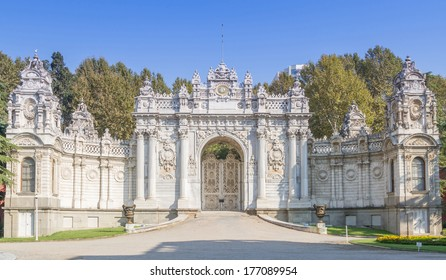 The Gate of the  Dolmabahce palace Architecture