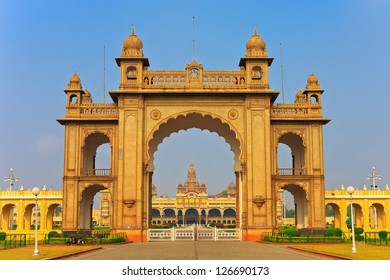 gate of the famous Mysore Palace