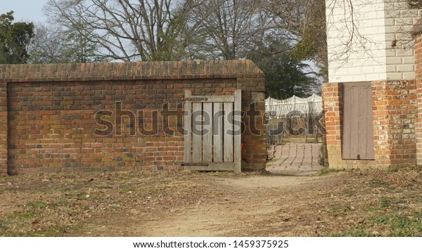 Gate and fence on a farm.