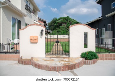 A gate of a house